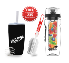 gulp!™ Fruit Infuser Water Bottle Platinum Edition