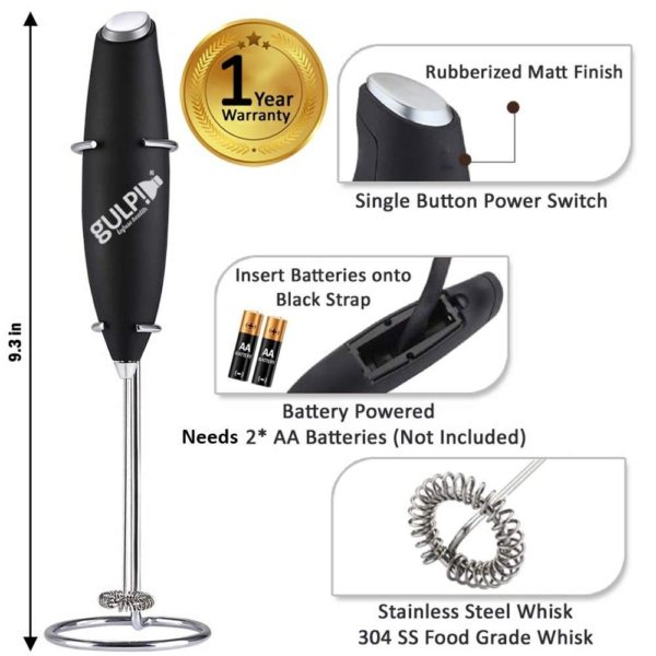 Inserting Battery to gulp milk frother